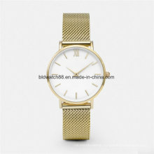 OEM Classic High Quality Mesh Strap Watches Stainless Steel Case